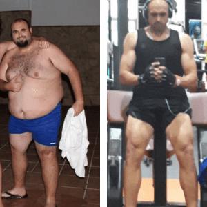 paco antes y después de su operación de reducción de estómago
